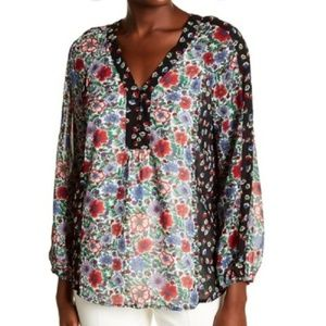 NWT Nanette Lepore In This Moment Floral Blouse